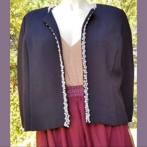 Dressbarn Embellished Pearl Jacket, Medium